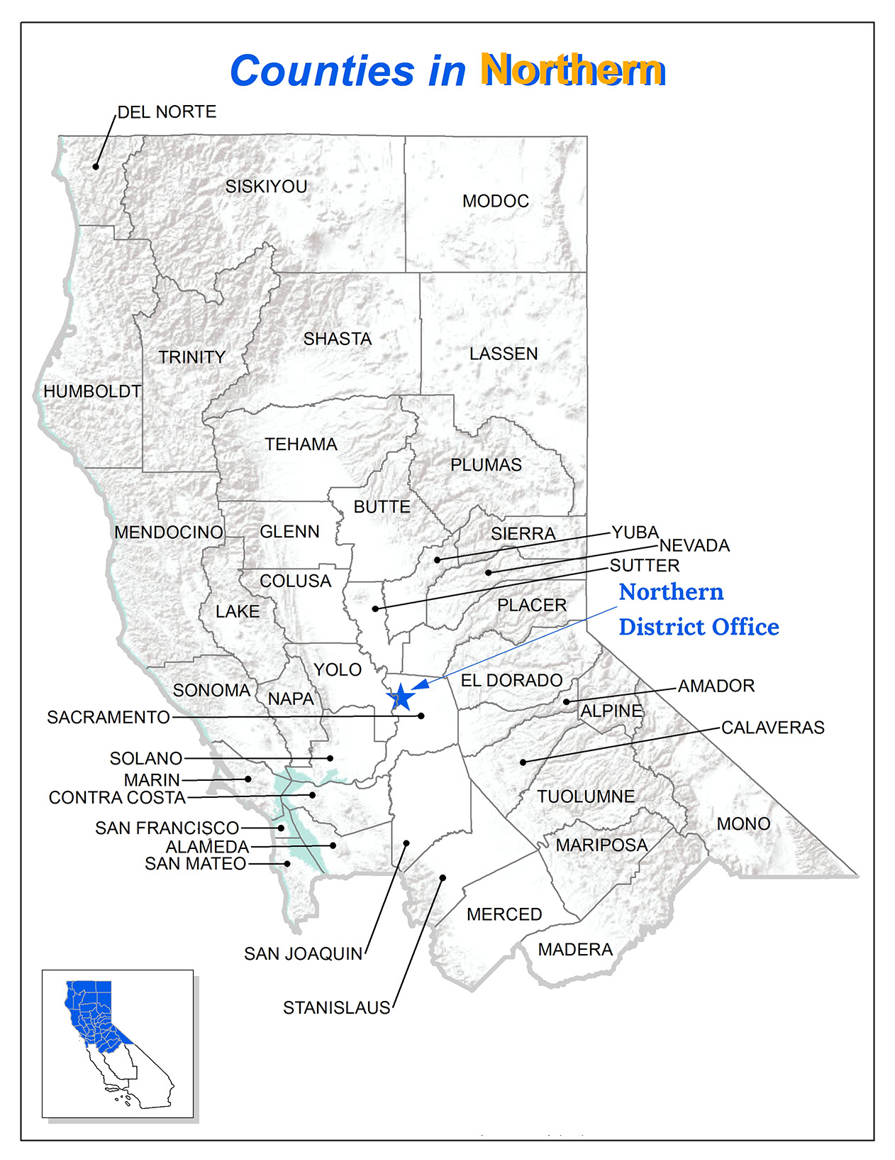 northern district counties map