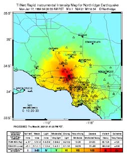1994 Northridge ShakeMap