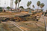 Liquefaction at King Harbor, Redondo Beach, Northridge Earthquake, 1994